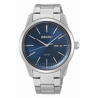 Watch Seiko SNE525P1 - CLASSIC MAN Dateur Silver Steel Bracelet Wood Tier Silver Steel Men