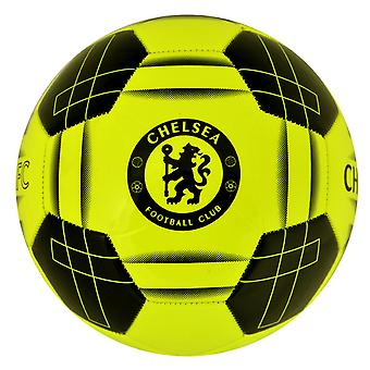 Chelsea FC Official Yellow Fluo Crest Football (Size 5)