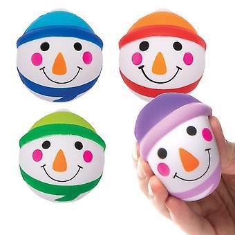 FengChun AX430 Schneemann Mini Softblle - 4 Stck, Lustiges Spielzeug fr Kinder zur Winterzeit