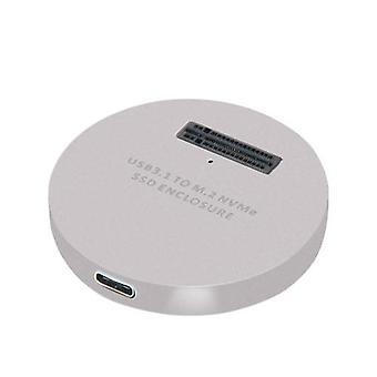 LM-914 USB 3.1 Type-C pci-E M.2 NVMe SSD -kotelon sovitinmuunnin Windows OSX Linux Silverille