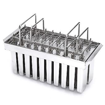 Stainless Mold DIY Home Popsicle Juice 20Cell Big Popsicle Barrel Maker Mould(Silver)