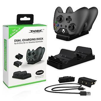 Xbox واحد × ق وحدة تحكم الوقوف لوحة الألعاب قفص الاتهام الشحن المزدوج