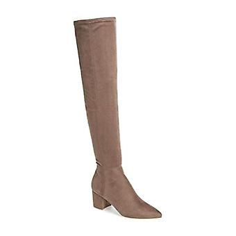 Steve Madden Womens brinkly Suede puntige teen knie High Fashion laarzen