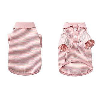 Pet tøj åndbare striber strikket cardigan kat tøj