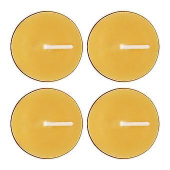 Algo diferente luces de té de cera de abeja (pack de 4)