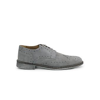 Duca di Morrone - Shoes - Lace-up shoes - 208D-CAMOSCIO-GRIGIO - Men - lightgray - EU 41