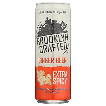 Brooklyn Crafted Ginger Beer Extra Spicy, Case of 24 X 12 Oz