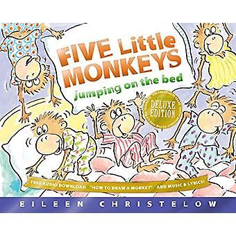 Eileen Christelow & Christelow'n Viisi pientä apinaa hyppäämässä sängyllä Deluxe Edition