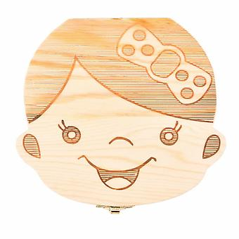 Baby Teeth Box Save Wooden Boxes First Haircut Keepsake Tooth Fairy Box Personalized Tooth Holder For Boy