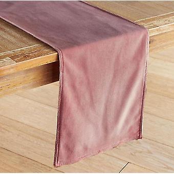 180cm المخملية غير لامع الراقية مفرش المائدة الأخضر سماوي مفرش المائدة مفرش المائدة عداء الجدول (الوردي)