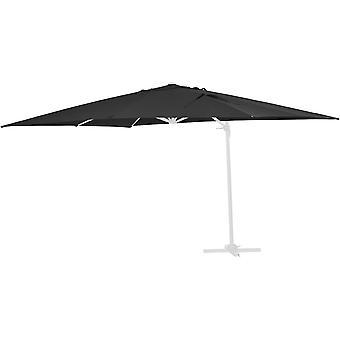 Tissu de rechange pour parasol «Sun 4» - 3 x 4 m - Noir