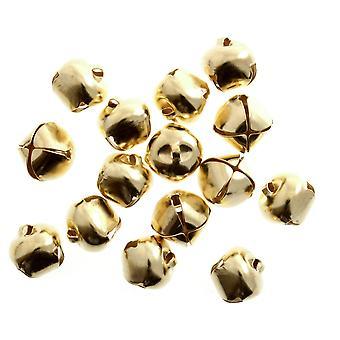 100 Gold 10mm Jingle Bells for Crafts