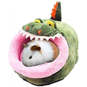 Chinchilla Hedgehog Guinea Bed Accessories Cage Toys Small Pet House(Crocodile)