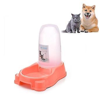 Pet Dual Purpose Automatic Water Dispenser Dog Bowl Dog Cat Universal(Pink)