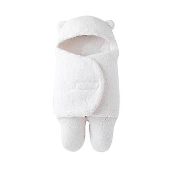 YANGFAN Newborn Thicken Plüsch Decke Süße Baby Kapuze Weiche Wickelwickel für Kleinkinder Mädchen