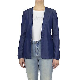 Emporio Armani Women Blazer Regular fit  Full sleeve Blue