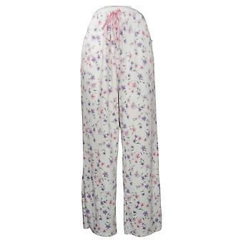 Aria Women's Novelty Printed Fleece Pajama Pants White 631033