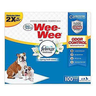 Neljä tassua Wee-Wee Pads - Febreze Freshness - 100 Count