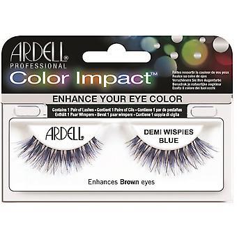Ardell farge Impact Demi Wispies blå lett å påføre full falske øyevipper