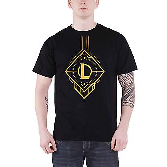 League Of Legends T Shirt Centre Logo new Official Mens Black