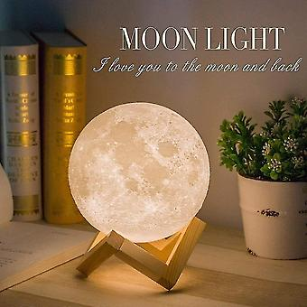 Night lights ambient lighting light light 3d moon light 3 colors touch light 15 cm / 5.9 Inches rechargeable moon night diameter