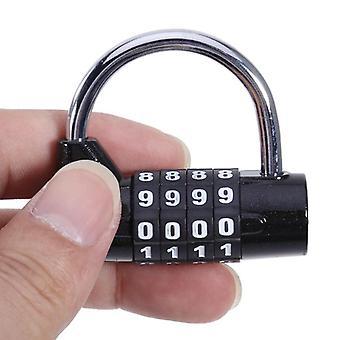 Reise Passwort Lock 4 Ziffer Ziffer Nummer Kombination Kombination Vorhängeschloss Zinklegierung 3 Farben Codiertes Schloss Sicherheit Sicher Code
