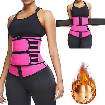 Waist Trimmer Belt Women Sauna Suit Sweat Wrap Trainer Slimming Cincher Body Shaper