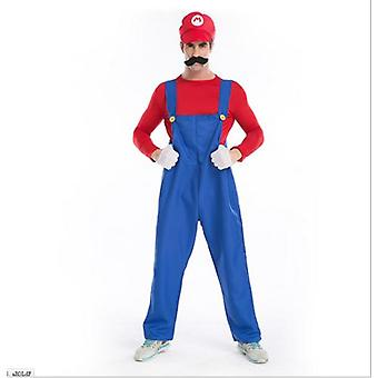 Dospělí muži Super Mario Bros Fancy šaty Cosplay kostým