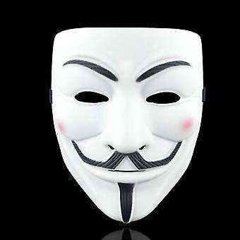 Anonym Hacker V-vendetta ansigtsmaske Voksen Cosplay Fancy Prop