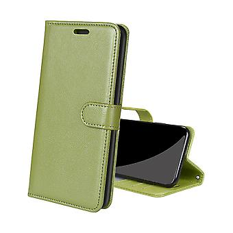 Futerał na Samsung Galaxy A52 5g/4g Skórzana osłona Zderzak Coque Magnetyczne zamknięcie odporne na wstrząsy - Zielony
