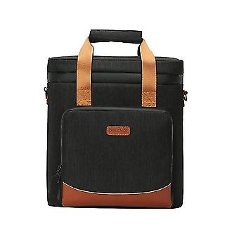 Leakproof Wine Cooling Vintage Leather Bag Picnic Portable Thermal Bag