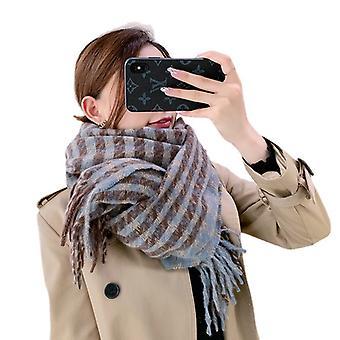 Women's Winter Scarf Classic Plaid Adult Shawl Warm Scarf