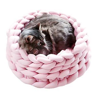 מחצלות מיטת חתול חם קטן רך כלב כלבים כלבים סלייה נתיק