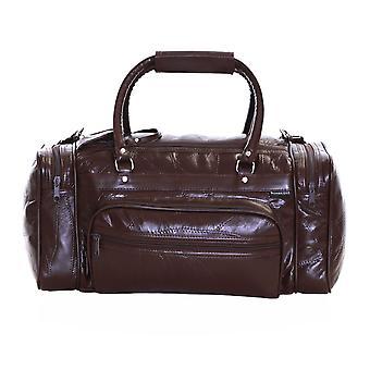Bolsa de viaje de cuero de Slimbridge Blumberg, marrón