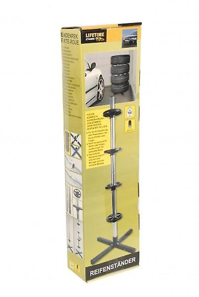 Vehicle Tyre Holder Stand For Up to 4 Tyres Home Garage Storage Unit