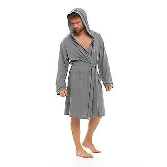 Foxbury Mens Classic Design Gekonde Trui Cotton Nightwear Badjas Badjas