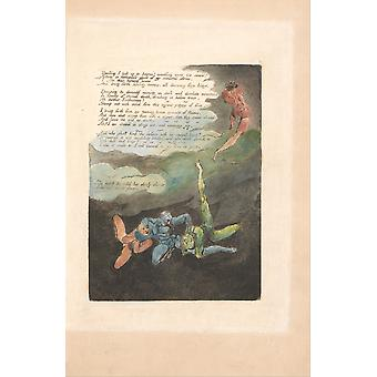 William Blake - Unwilling I look up Poster Print Giclee