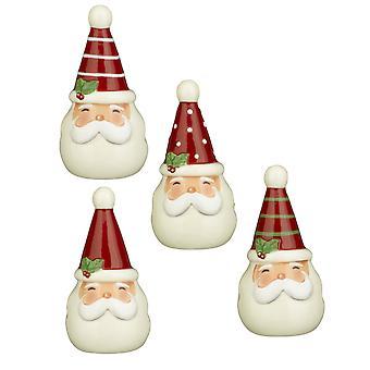 Jolly Santas Very Merry zout en peper Shakers Sets twee paar