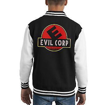 Evil Corp Jurassic Park Mr Robot Kid's Varsity Jacket