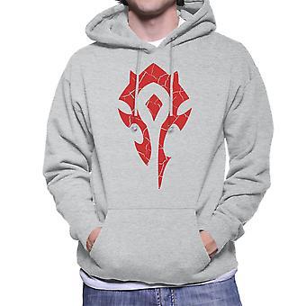 Hordy Symbol World Of Warcraft Red mężczyzn jest z kapturem Bluza