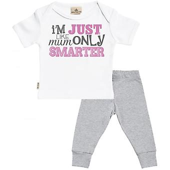 Spoilt Rotten Like Mum Only Smarter Baby T-Shirt & Baby Jersey Trousers Outfit Set