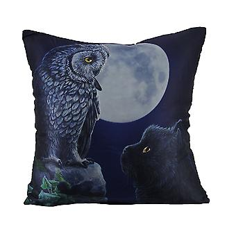 Lisa Parker Purrfect Wisdom Satin Gothic Throw Pillow