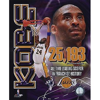 Kobe Bryant Los Angeles Lakers All-Time Leading Scorer Portrait Plus Sports Photo (8 x 10)