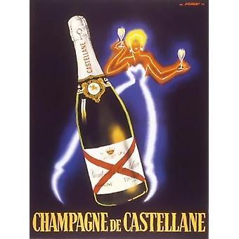 Champagne de Castellane affisch Skriv av Robert Falcucci (24 x 32)