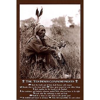 10 indiske befalinger plakat Print af Joe Viesti Assoc (24 x 36)