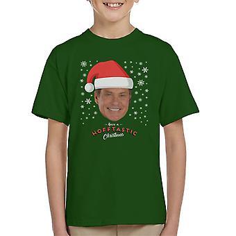 T-Shirt David Hasselhoff Have A Hofftastic Noël enfant
