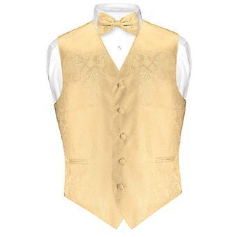 بيزلي تصميم اللباس سترة رجالية & مجموعة BOWTie القوس التعادل لتناسب تكس