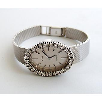 White gold diamonds Tusal watch