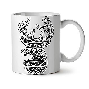 Deer Holiday Christmas NEW White Tea Coffee Ceramic Mug 11 oz | Wellcoda