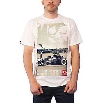 Quarter Mile T Shirt No Second Chance Graphic logo new Official Mens White